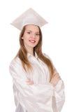 Muchacha graduada foto de archivo