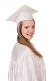 Muchacha graduada solated Fotografía de archivo