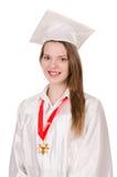 Muchacha graduada solated Fotos de archivo