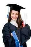 Muchacha graduada sonriente feliz Fotos de archivo libres de regalías