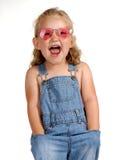 Muchacha gritadora Foto de archivo libre de regalías