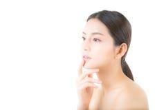 Muchacha hermosa con concepto del cuidado del maquillaje, de la mujer y de piel Imagen de archivo libre de regalías