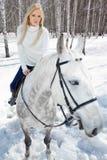 Muchacha hermosa con el caballo Foto de archivo libre de regalías