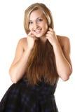 Muchacha hermosa con el pelo largo imagen de archivo