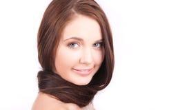 Muchacha hermosa con el pelo largo Imágenes de archivo libres de regalías