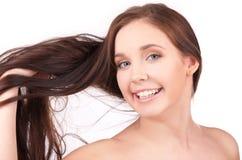 Muchacha hermosa con el pelo largo Fotografía de archivo
