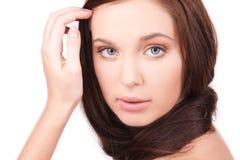 Muchacha hermosa con el pelo largo Fotos de archivo