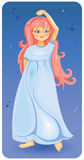Muchacha hermosa con el pelo rosado Imagen de archivo