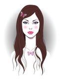 Muchacha hermosa con la mariposa libre illustration
