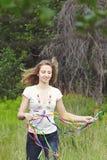 Muchacha hermosa con las cintas Fotografía de archivo