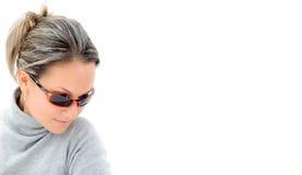 Muchacha hermosa con las gafas de sol Fotos de archivo