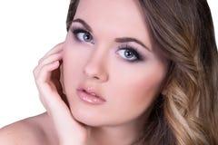 Muchacha hermosa con maquillaje Imágenes de archivo libres de regalías