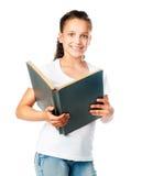 Muchacha hermosa con un libro Imagen de archivo