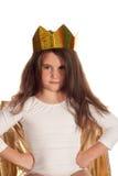Muchacha hermosa con una corona encendido Fotografía de archivo