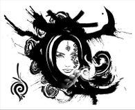 Muchacha hermosa con una mirada astuta libre illustration