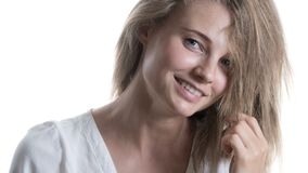 Muchacha hermosa con una sonrisa Foto de archivo