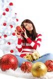 Muchacha hermosa de la Navidad foto de archivo libre de regalías