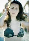 Muchacha hermosa de la playa Fotografía de archivo libre de regalías