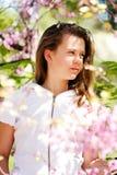 Muchacha hermosa de la primavera Imagen de archivo