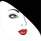 Muchacha hermosa de ojos verdes   Fotos de archivo