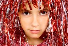 Muchacha hermosa de Yong con la peluca del carnaval Imágenes de archivo libres de regalías