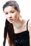 Muchacha hermosa del adolescente en blanco aislado Foto de archivo libre de regalías