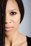Muchacha hermosa del African-American Imagen de archivo libre de regalías