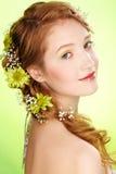 Muchacha hermosa del redhead Imágenes de archivo libres de regalías