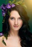 Muchacha hermosa del retrato de la primavera Fotos de archivo libres de regalías