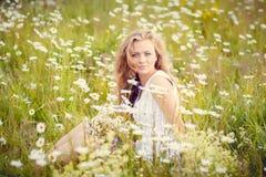 Muchacha hermosa del verano Imagen de archivo