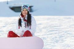 Muchacha hermosa el fin de semana del invierno Imagen de archivo libre de regalías