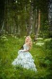 Muchacha hermosa en bosque de hadas fotos de archivo libres de regalías