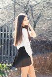 Muchacha hermosa en falda Fotos de archivo libres de regalías