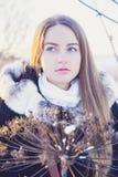 Muchacha hermosa en invierno Imagen de archivo