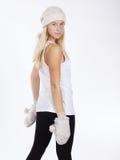 muchacha hermosa en ropa del invierno Fotos de archivo