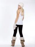muchacha hermosa en ropa del invierno Foto de archivo
