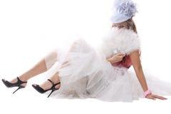 Muchacha hermosa en traje del carnaval Fotografía de archivo