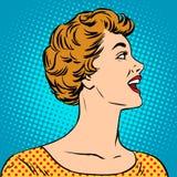 Muchacha hermosa en un estilo del cartel ilustración del vector