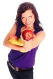 Muchacha hermosa joven con la fruta Fotos de archivo libres de regalías