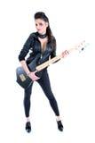 Muchacha hermosa joven con la guitarra Imagenes de archivo