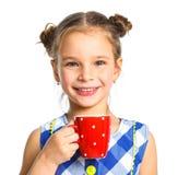 Muchacha hermosa joven con la taza Imágenes de archivo libres de regalías