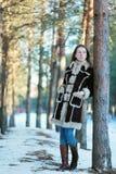 Muchacha hermosa joven en el bosque Fotos de archivo libres de regalías