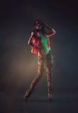 Muchacha hermosa joven en pantalones vaqueros Imagen de archivo libre de regalías