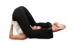 Muchacha hermosa que hace yoga fotografía de archivo libre de regalías