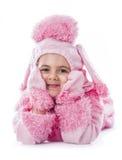 Muchacha hermosa que lleva el traje del vestido de lujo Imagen de archivo libre de regalías