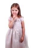 Muchacha hermosa que pide silencio Fotografía de archivo libre de regalías
