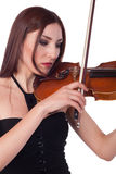 Muchacha hermosa que toca el violín Foto de archivo