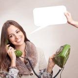 Teléfono verde viejo Foto de archivo libre de regalías