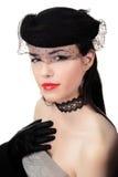 Muchacha hermosa retra de la vendimia Fotografía de archivo libre de regalías