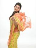 Muchacha india adolescente en sari Fotografía de archivo libre de regalías